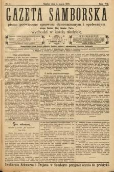 Gazeta Samborska : pismo poświęcone sprawom ekonomicznym i społecznym okręgu: Sambor, Stary Sambor, Turka. 1907, nr9