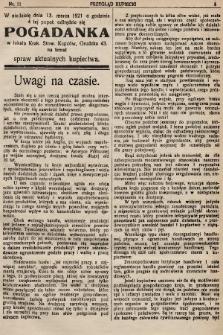 Przegląd Kupiecki : organ Krakowskiego Stowarzyszenia Kupców. 1921, nr11
