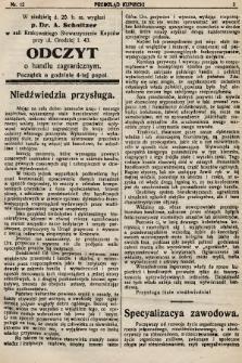 Przegląd Kupiecki : organ Krakowskiego Stowarzyszenia Kupców. 1921, nr12