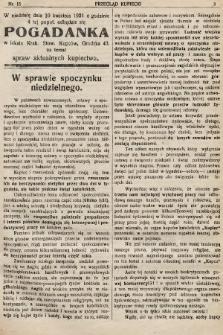 Przegląd Kupiecki : organ Krakowskiego Stowarzyszenia Kupców. 1921, nr15