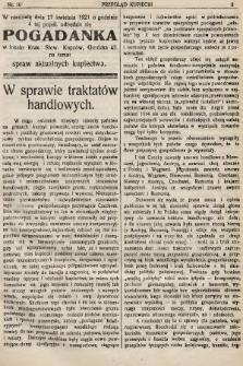 Przegląd Kupiecki : organ Krakowskiego Stowarzyszenia Kupców. 1921, nr16