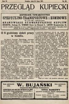 Przegląd Kupiecki : organ Krakowskiego Stowarzyszenia Kupców. 1921, nr29