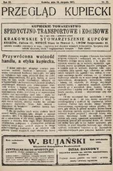 Przegląd Kupiecki : organ Krakowskiego Stowarzyszenia Kupców. 1921, nr32