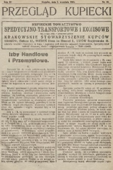 Przegląd Kupiecki : organ Krakowskiego Stowarzyszenia Kupców. 1921, nr34