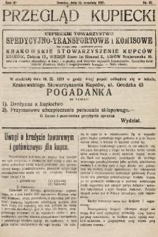 Przegląd Kupiecki : organ Krakowskiego Stowarzyszenia Kupców. 1921, nr35