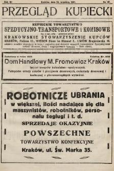 Przegląd Kupiecki : organ Krakowskiego Stowarzyszenia Kupców. 1921, nr37