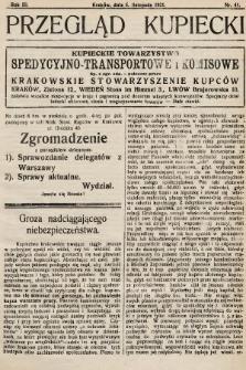 Przegląd Kupiecki : organ Krakowskiego Stowarzyszenia Kupców. 1921, nr41