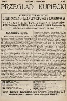 Przegląd Kupiecki : organ Krakowskiego Stowarzyszenia Kupców. 1921, nr42