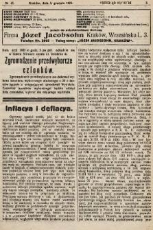 Przegląd Kupiecki : organ Krakowskiego Stowarzyszenia Kupców. 1921, nr45