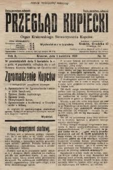 Przegląd Kupiecki : organ Krakowskiego Stowarzyszenia Kupców. 1920, nr14
