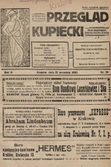 Przegląd Kupiecki : organ Krakowskiego Stowarzyszenia Kupców. 1920, nr29