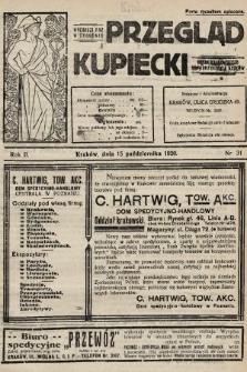 Przegląd Kupiecki : organ Krakowskiego Stowarzyszenia Kupców. 1920, nr31