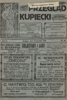 Przegląd Kupiecki : organ Krakowskiego Stowarzyszenia Kupców. 1920, nr40