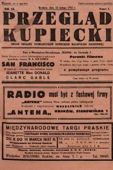 Przegląd Kupiecki : organ Związku Stowarzyszeń Kupieckich Małopolski Zachodniej. 1937, nr 6