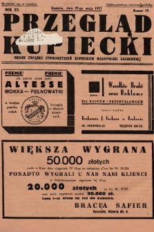 Przegląd Kupiecki : organ Związku Stowarzyszeń Kupieckich Małopolski Zachodniej. 1937, nr 19