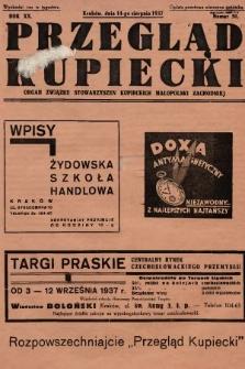 Przegląd Kupiecki : organ Związku Stowarzyszeń Kupieckich Małopolski Zachodniej. 1937, nr 30