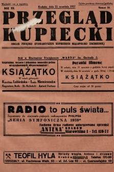 Przegląd Kupiecki : organ Związku Stowarzyszeń Kupieckich Małopolski Zachodniej. 1937, nr 34
