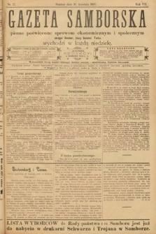 Gazeta Samborska : pismo poświęcone sprawom ekonomicznym i społecznym okręgu: Sambor, Stary Sambor, Turka. 1907, nr17