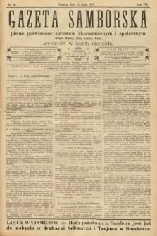 Gazeta Samborska : pismo poświęcone sprawom ekonomicznym i społecznym okręgu: Sambor, Stary Sambor, Turka. 1907, nr19