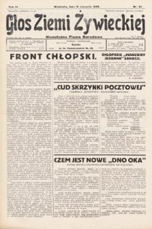 Głos Ziemi Żywieckiej : tygodnik społeczno-narodowy. 1930, nr67