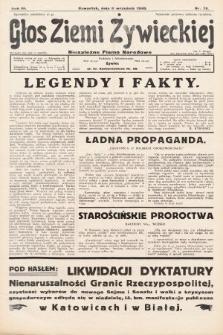 Głos Ziemi Żywieckiej : tygodnik społeczno-narodowy. 1930, nr70