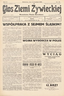 Głos Ziemi Żywieckiej : tygodnik społeczno-narodowy. 1930, nr73