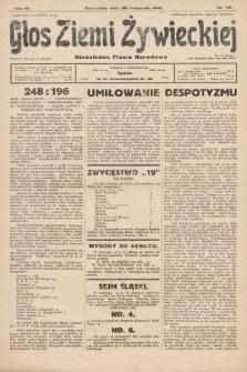 Głos Ziemi Żywieckiej : tygodnik społeczno-narodowy. 1930, nr90