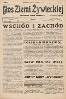 Głos Ziemi Żywieckiej : tygodnik społeczno-narodowy. 1930, nr91