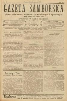 Gazeta Samborska : pismo poświęcone sprawom ekonomicznym i społecznym okręgu: Sambor, Stary Sambor, Turka. 1907, nr24