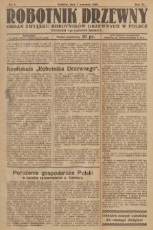 Robotnik Drzewny : organ Związku Robotników Drzewnych w Polsce. 1929, nr9