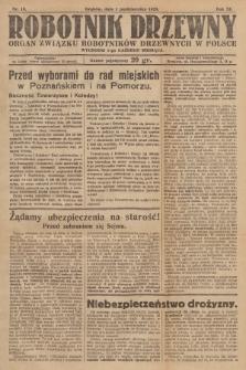 Robotnik Drzewny : organ Związku Robotników Drzewnych w Polsce. 1929, nr10