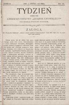 """Tydzień : dodatek literacko-naukowy """"Kurjera Lwowskiego"""". 1905, nr33"""