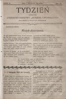 """Tydzień : dodatek literacko-naukowy """"Kurjera Lwowskiego"""". 1905, nr45"""