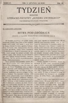 """Tydzień : dodatek literacko-naukowy """"Kurjera Lwowskiego"""". 1905, nr47"""
