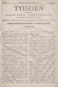 """Tydzień : dodatek literacko-naukowy """"Kurjera Lwowskiego"""". 1905, nr48"""