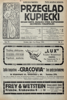 Przegląd Kupiecki : organ Centr. Związku Stow. Kupieckiego Zachodniej Małopolski. 1923, nr6