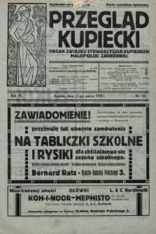 Przegląd Kupiecki : organ Związku Stowarzyszeń Kupieckich Małopolski Zachodniej. 1923, nr12