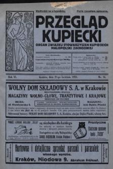 Przegląd Kupiecki : organ Związku Stowarzyszeń Kupieckich Małopolski Zachodniej. 1923, nr16