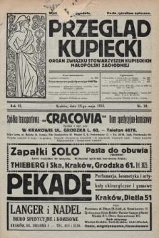Przegląd Kupiecki : organ Związku Stowarzyszeń Kupieckich Małopolski Zachodniej. 1923, nr20