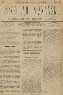 Przegląd Poznański : tygodnik polityczny, społeczny i literacki. 1896 [całość]