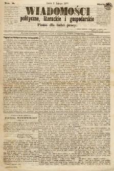 Wiadomości Polityczne, Literackie iGospodarskie : pismo dla ludzi pracy. 1869, nr9