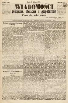 Wiadomości Polityczne, Literackie iGospodarskie : pismo dla ludzi pracy. 1869, nr11