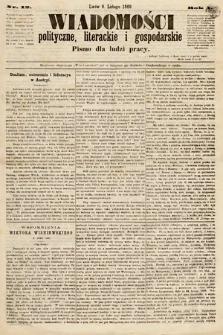 Wiadomości Polityczne, Literackie iGospodarskie : pismo dla ludzi pracy. 1869, nr12