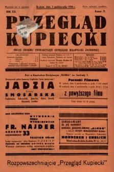 Przegląd Kupiecki : organ Związku Stowarzyszeń Kupieckich Małopolski Zachodniej. 1936, nr31