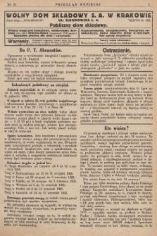 Przegląd Kupiecki : [organ Związku Stowarzyszeń Kupieckich Małopolski Zachodniej. 1925, nr 32]