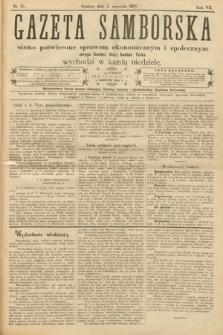 Gazeta Samborska : pismo poświęcone sprawom ekonomicznym i społecznym okręgu: Sambor, Stary Sambor, Turka. 1907, nr35