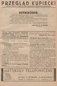 Przegląd Kupiecki : [organ Związku Stowarzyszeń Kupieckich Małopolski Zachodniej. 1926, nr51]