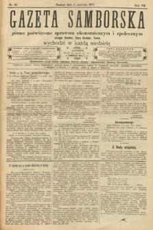 Gazeta Samborska : pismo poświęcone sprawom ekonomicznym i społecznym okręgu: Sambor, Stary Sambor, Turka. 1907, nr36