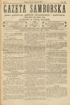 Gazeta Samborska : pismo poświęcone sprawom ekonomicznym i społecznym okręgu: Sambor, Stary Sambor, Turka. 1907, nr37