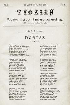 """Tydzień : dodatek literacki """"Kurjera Lwowskiego"""". 1900, nr18"""